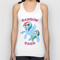 mlp Tank Tops featuring MLP FiM: Rainbow Dash by Yiji