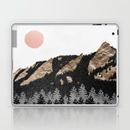 Flatirons Boulder Colorado - Climbing Gold Mountains Laptop & iPad Skin