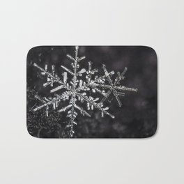 Two Snowflakes Bath Mat