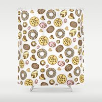 cookies Shower Curtains featuring Cookies ♥ by Martina Marzullo Art