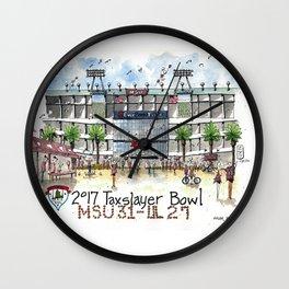 2017 TaxSlayer Gator Bowl Wall Clock