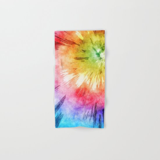 Tie Dye Watercolor Hand & Bath Towel