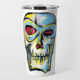 Skull blinking Travel Mug