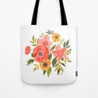 oana befort Tote Bags featuring FLOWER POWER by Oana Befort