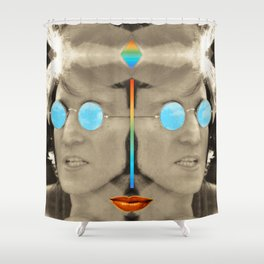 John & lips Shower Curtain