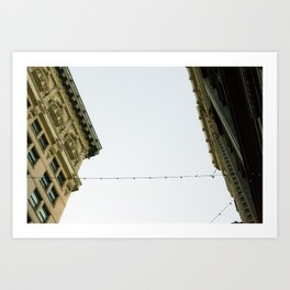 Connected Building  Art Print
