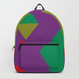 How many rhombuses can you count ? 4 inside a red one. Backpack