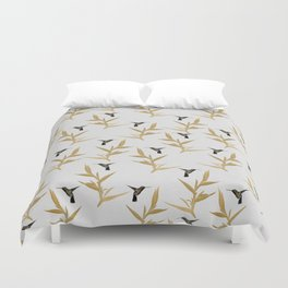 Hummingbird & Flower II Duvet Cover