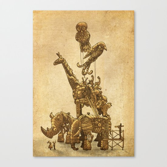 Mechanical Menagerie  Canvas Print
