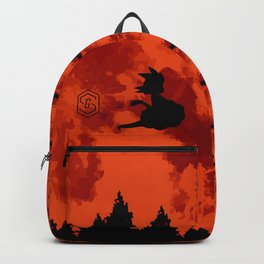 The Moon on Dragon Ball - Black Orange Backpack