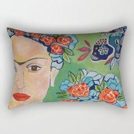 Mexican Frida Rectangular Pillow