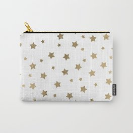 Modern gold Christmas stars geometric pattern Carry-All Pouch