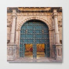 Faith Opens Doors Metal Print