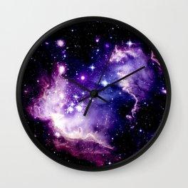 Galaxy .  Deep Purple & Blue Wall Clock