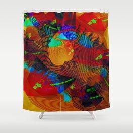 S T A R T R A W L E R Shower Curtain
