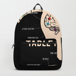Table Top Brain Board Game Nerd Backpack