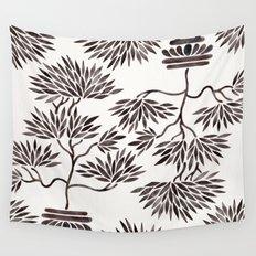 Bonsai Tree – Black Palette Wall Tapestry