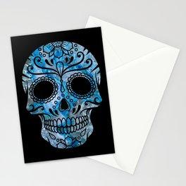 Blue Lace Sugar Skull Stationery Cards