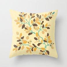 Crisp Autumn Branches Throw Pillow