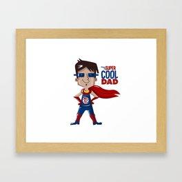 Super Dad Framed Art Print
