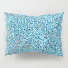 Clustered Flower Mound in Teal Pattern 1 Pillow Sham