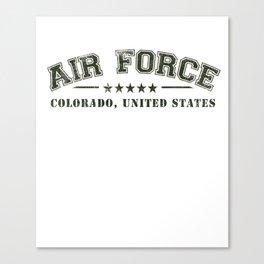 Colorado Springs US Airforce design - U.S. Military graphics Canvas Print