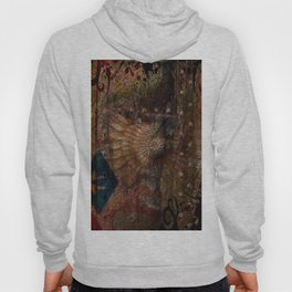 Rustic Textured Abstract Painting Hoody