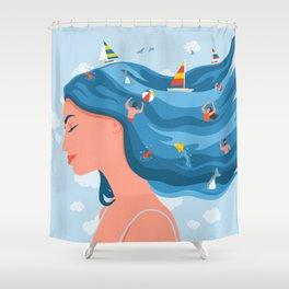 I Dream Of Summer Shower Curtain