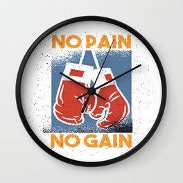 No Pain No Gain Wall Clock