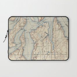 Vintage Map of The Puget Sound (1934) Laptop Sleeve