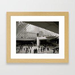 Inside the Louvre  Framed Art Print