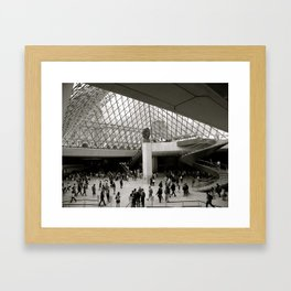 Inside the Louvre  Framed Art Print