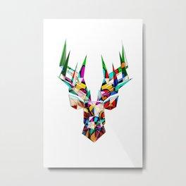Reindeer / Deer / Buck with Mandala Metal Print