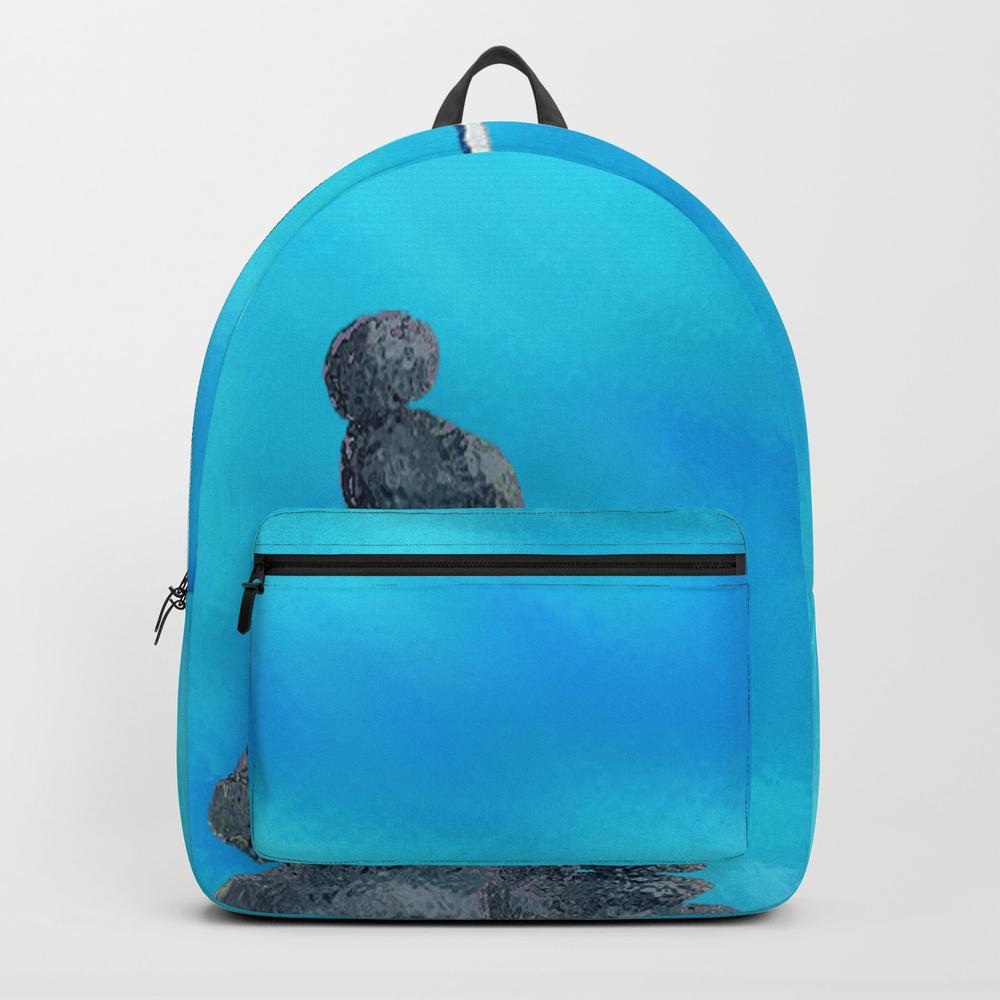 Manta Ray - Raie Manta - Et Roches Backpack by Zazamen BKP9158420