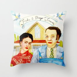 Frida Kahlo and Diego Rivera Throw Pillow