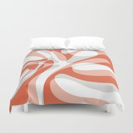Coral Wave Duvet Cover