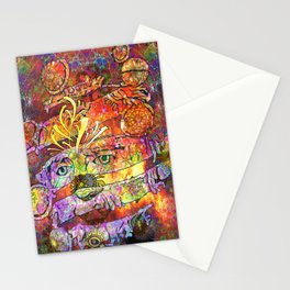 Mask of joy Stationery Cards