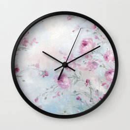 Rose Meadow Wall Clock