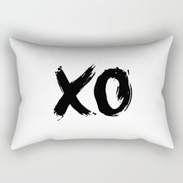 XOXO Hugs and Kisses black and white gift for her girlfriend bedroom art and home room wall decor Rectangular Pillow