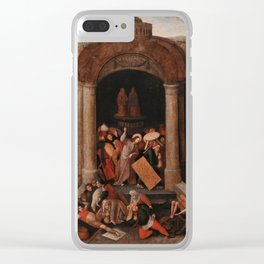 Christ Driving the Traders from the Temple, Pieter Bruegel the Elder Clear iPhone Case