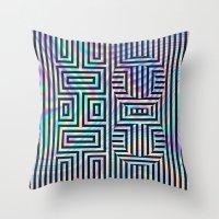 xoxo Throw Pillows featuring xoxo by Marta Olga Klara