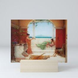 The Sweet Siesta of a Summer Day island landscape by John William Godward Mini Art Print