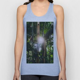 Sunlight Through Green Bamboo Tropical Forest Unisex Tank Top