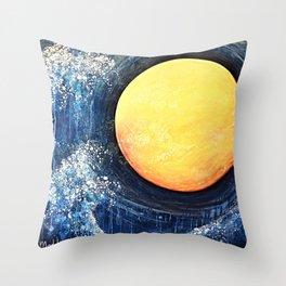 Hikari Moon Throw Pillow