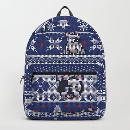 Christmas Frenchie Backpack