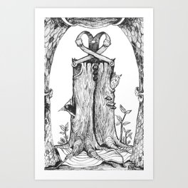 Haunted Clothing- The Eternal Wooden Pants Art Print