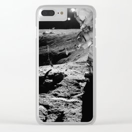 Apollo 16 - Moon Astronaut Crater Clear iPhone Case