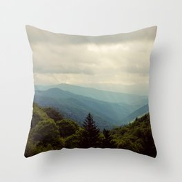 THE LIGHT THROUGH THE CLOUDS Throw Pillow