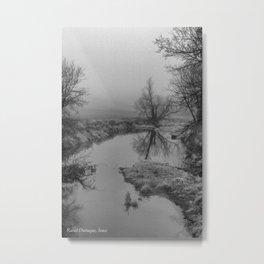 Fog in Rural Dubuque, Iowa Metal Print