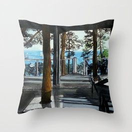Arquitectura y espacio Throw Pillow